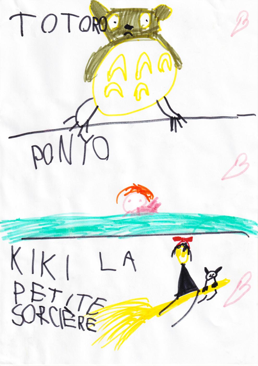 totoro ponyo kiki